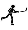 hockey player pictogram vector image vector image