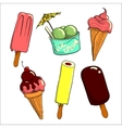 ice cream set vector image
