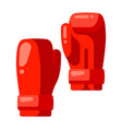 icon boxing gloves in flat style vector image vector image