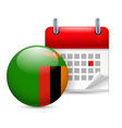 Icon of National Day in Zambia vector image vector image