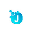 letter j bubble logo template or icon vector image vector image