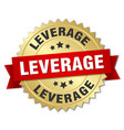 leverage round isolated gold badge vector image vector image