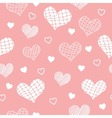 light red pattern with hearts vector image vector image
