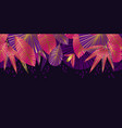 luxury tropical leaves abstract pattern vector image vector image