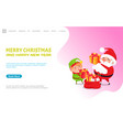 merry christmas happy new year wishes from santa vector image vector image