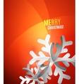 Modern Abstract Christmas Card vector image vector image