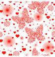 monochrome bright red seamless valentine pattern vector image vector image
