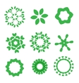 Organic design elements set vector image