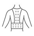 orthopedic corset thin line icon vector image vector image