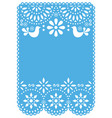 papel picado wedding invitation or greeting card vector image