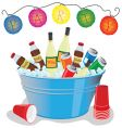 party drinks vector image vector image