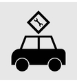 passenger car icon vector image vector image