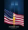 patriot day vertical banner we will never forget vector image vector image