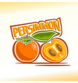 persimmon still life vector image vector image