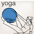 Pilates of woman stability ball gym fitness yoga vector image vector image