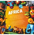 Postcard of flat design african icons and vector image vector image