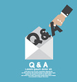 QA Letter In Hand vector image