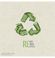 reuse reduce recycle poster vector image vector image