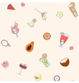 Seamless cocktail pattern vector image vector image