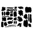 set grunge elements vector image vector image