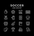 set line icons soccer vector image