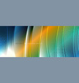 shining glass abstract wave background dynamic vector image vector image