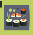 simple things - sushi vector image