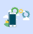 smartphone for business management vector image vector image