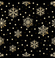 snow pattern on black background vector image vector image