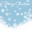 Snowflakes Chrismas Card Blue 2 vector image vector image