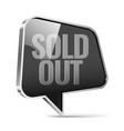 sold out an ad with a black tag vector image vector image