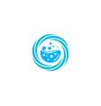 splash laundry logo icon design vector image vector image