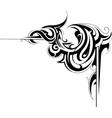 swirly corner vector image vector image
