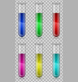 test-tubes chemical laboratory transparent flask vector image