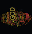 the power of god makes life easier text vector image vector image