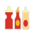 three sauces vector image vector image