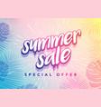 trendy hot summer sale banner vector image