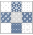 Victorian pattern white baroque wallpaper vector image vector image