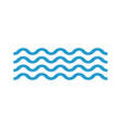 wave icon in flat stylewavy lines vector image