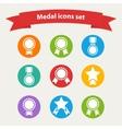 white medalaward icons set vector image vector image