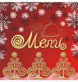 Winter menu vector image vector image