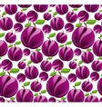 Plum seamless pattern vector image