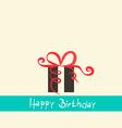 Flat Design Happy Birthday Retro Simple with vector image