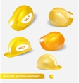 yellow helmet set isolated object vector image