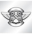 biker logo Motor club piston vector image