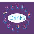 Drink alcohol menu vector image