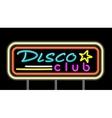 Neon Signboard Disco Club Design vector image
