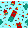 Urban Lifestyle Clothing and Accessories Pattern vector image