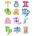 astrological zodiac signs vector image vector image