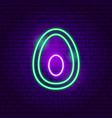 avocado neon sign vector image